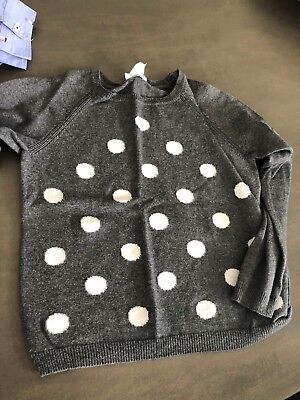 Girls Jacadi Grey Polka Dot Jumper Size 8 EXCELLENT CONDITION!