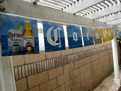 17' Corona Extra Bottle Beach Sunset Beer String Banner sign Tropical Bar Ocean