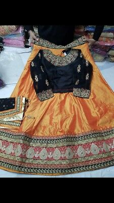 INDIAN/Pakistani WEDDING LEHENGA CHOLI BRIDAL BOLLYWOOD GHAGRA