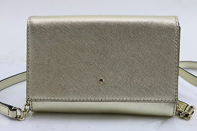 Kate Spade New York Ladies Cedar Street Small Tavy Gold Leather Wallet