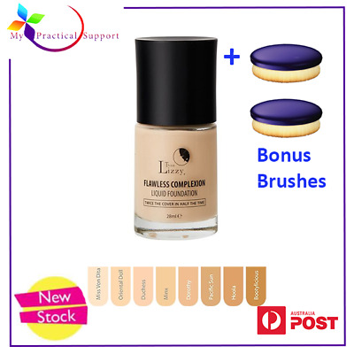 Thin Lizzy Flawless Complexion Liquid Foundation with 2 free Blurring Brushes