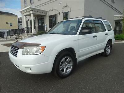 Forester 2.5 X 2006 Subaru Forester CLEAN MAINTAINED WHITE ALL WHEEL DRIVE NO RESERVE