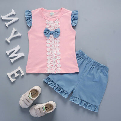 Kids Baby Girls Clothes Infant Girl Clothing Suits Outfits Sets T-shirt + Pants