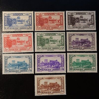 France Colony Grand Lebanon Post Aerial Pa N°65/74 Neuf Value
