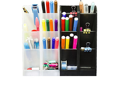 Desk Organizer Caddy Pencil Pen Sorter Box Office Supplies Multipurpose Storage