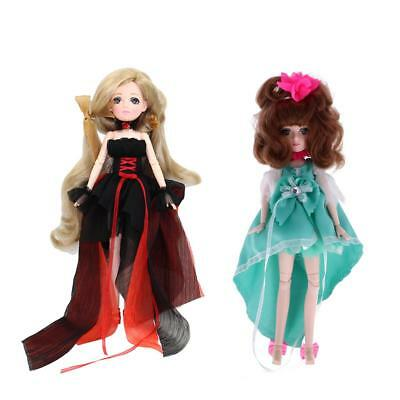 2 Sets 30 Joints Vinyl Body Doll Flexible Ball Jointed Doll Doll Toy Gifts