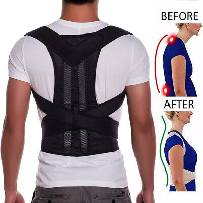 Adjustable Back Support Brace Posture Corrector Shoulder Belt Corset Men/ Women A ADJUSTABLE BACK SUPPORT