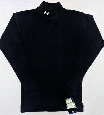 Under Armour Men's Cold Gear Long Sleeve Mock Compression Shirt Black Large New