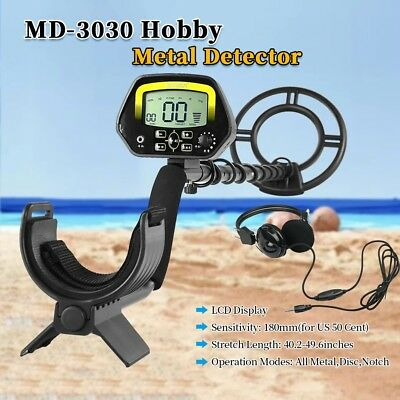 MD-3030 LCD Deep Sensitive Ground Search Metal Detector Gold Coin Hunter Machine