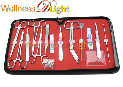 Wdl New 18 Pcs Minor Surgery Set Stainless Steel /case Surgical Instruments Kit