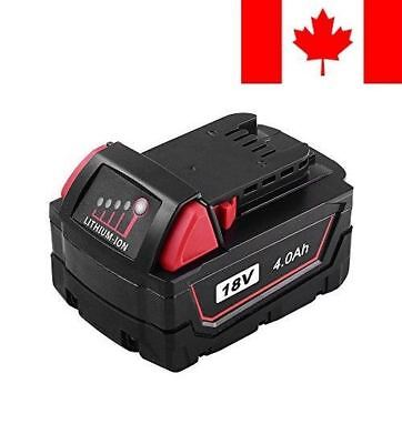 18V 4.0Ah XC for Milwaukee Replace M18 Battery Cordless Tool 48-11-1850 48-11...