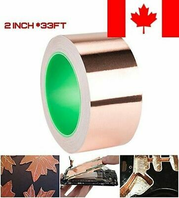 DanziX Copper Foil Tape Conductive Self Adhesive ( 2inch x 33ft ) Extra Long ...