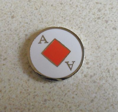 1 only ACE OF DIAMONDS GOLF BALL MARKER approx 23mm