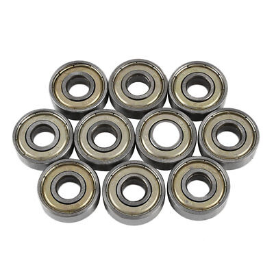 10x 608zz Miniature Rubber Seal Skate Ball Roller Groove Bearings 22x8x7mm