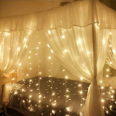 304 600 LED String Fairy Curtain Lights Waterfall Lamp Christmas Wedding Party