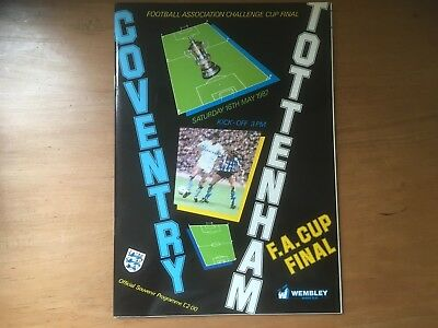 Coventry City v Tottenham 1987 FA Cup Final Programme