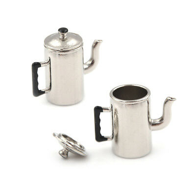 1/12 Dollhouse Miniature Metal Boiling Water Kettle toy Kitchen furniture toy QW