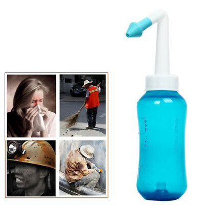 300ml Nasal Wash Neti Pot Nose Cleaner Bottle Nose Irrigator Saline Allergic HLC