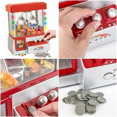 Crane Claw Game Machine Mini Toy Arcade Carnival Grabber Candy Toys Prizes Kids