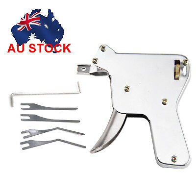 Strong Lock Pick Gun Lock Repair Tool Kit Door Lock Opener Bump Silver Key Tools