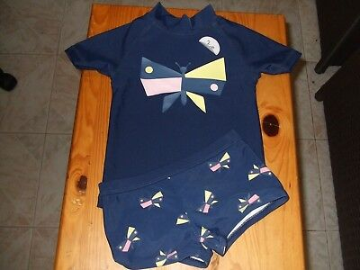 """Girls """"Hundreds & Thousands"""" 2 pce Bathers BNWT  @MUST  SEE@  Size 1"""
