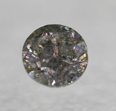 Certified 1.29 Carat I Color SI3 Round Brilliant Natural Loose Diamond 6.61mm