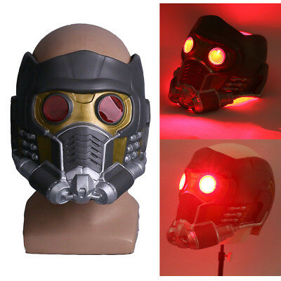 Star Lord LED Helmet Cosplay Avengers Superhero Star Lord Quill LED Mask Latex