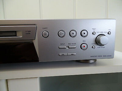 SONY  MD Player/Rekorder,  MDS-je480  Silber TOP  100% OK mit LP Funktion Stereo
