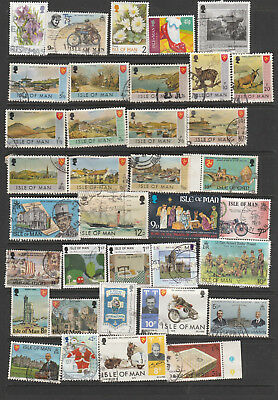 Isle Of Man  Mix 36 Stamps, All Different, Used, Lot A