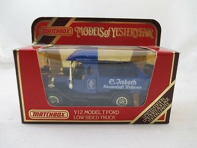"""Matchbox """" Models of Yesteryear""""  - Y12 - Model T Ford Low Sided Truck - OVP"""