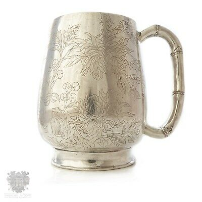 Antique Chinese export solid silver christening cup mug WoShing 1880's