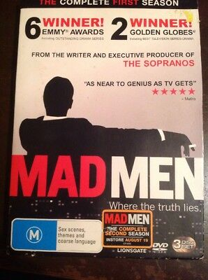 MAD MEN The Complete First Season 3 DVDs R4 VGC