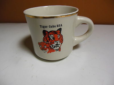Vintage Boy Scout BSA Tiger Cubs Coffee Mug Cub Scouts Scouting Camping Cup