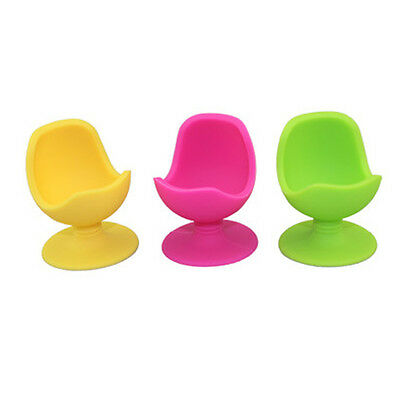 2pcs Design Egg Cup Chair Base Holder Silicone Soft Boiled Egg Container Stand