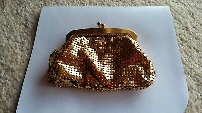 Vintage Gold Oroton Coin Purse- Made in West Germany - VGC