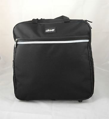 Black Drive Zip Wheelchair Backpack Shopping Bag Carrier to Hang on back Handles
