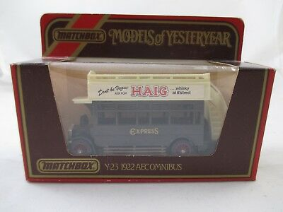 """Matchbox """" Models of Yesteryear""""  - Y23 - 1922 Aecomnibus / Express -  OVP"""