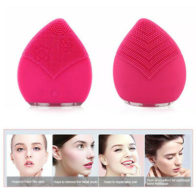 Electric Silicone Face Cleanser  Deep Cleaning Pore Massager Brush Waterproof
