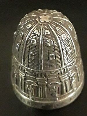 Sterling Silver Thimble, Replica of Dome of St. Peter's in Rome