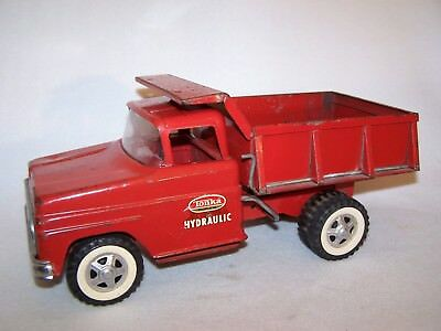 Vintage 1960's Red Tonka Hydraulic Dumper Truck - Working Condition!