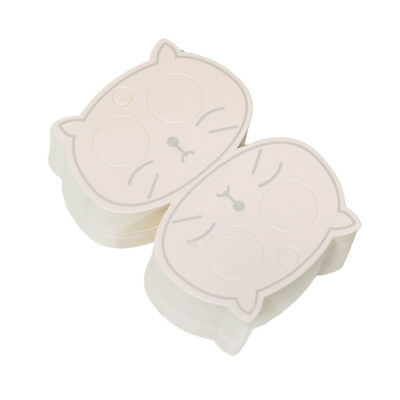 50pcs Hollow Cat Eye Hair Clip Card Paper Jewelry Display Cards Blank Cards