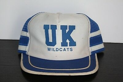 new products 7afab 63f73 Vintage Kentucky Wildcats UK Side Bar Stripe Trucker Hat Rare Made USA  Snapback