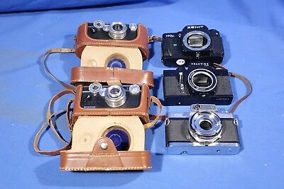 LOT of Assorted Film Camera Bodies FOR PARTS & REPAIR #L4195BP AS-IS