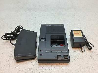 Sony M-2000 Microcassette Transcriber w/ Adapter And Foot Control - TESTED GOOD