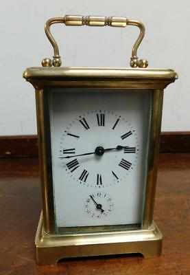 brass cased alarm carriage clock