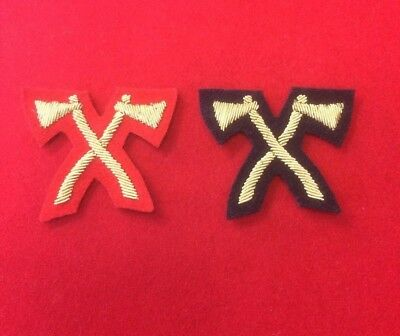 Mess Dress Assault Pioneer Crossed Axes Trade Badge Red or Black