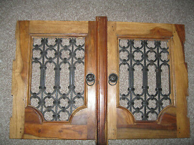 pair cupboard/cabinet doors- Mangowood Gothic style