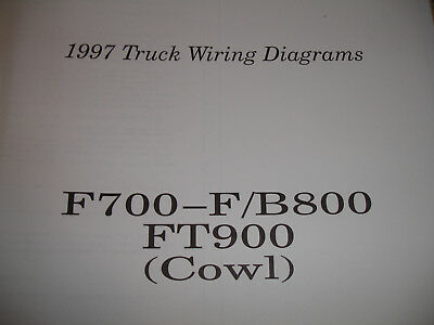 1997 Ford Truck F700 F800 B800 FT900 Electrical Wiring Diagram Schematic Manual