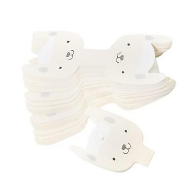 50pcs Cute Cartoon Dog Hair Clip Card Paper Jewelry Display Cards Blank Card