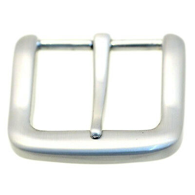 Square Replacement Belt Buckle For 1 1/4 Inch Width Brushed Nickel Finish